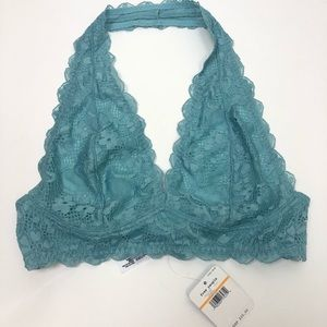 NWT Intimately Free People teal halter bralette